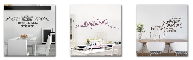 wandtattoos für das esszimmer - wandaufkleber für esszimmerwände - Esszimmer Wand Bilder