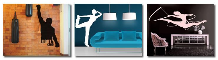 wandtattoos und wandaufkleber mit turnen und fitnessmotiven. Black Bedroom Furniture Sets. Home Design Ideas