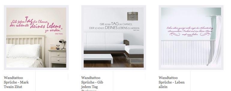wandtattoo spr che wortspiele zitate wandaufkleber mit ber hmten zitaten. Black Bedroom Furniture Sets. Home Design Ideas
